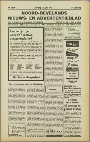Noord-Bevelands Nieuws- en advertentieblad 1952-04-12