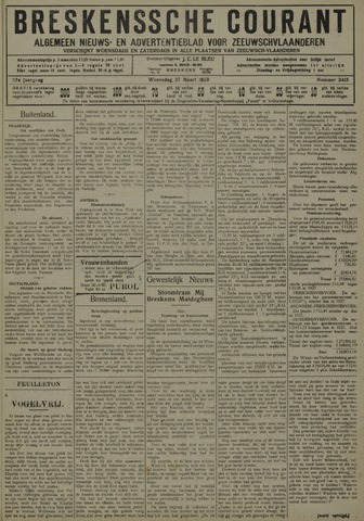 Breskensche Courant 1929-03-27