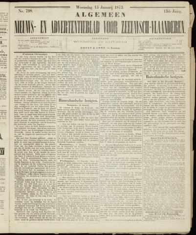 Ter Neuzensche Courant. Algemeen Nieuws- en Advertentieblad voor Zeeuwsch-Vlaanderen / Neuzensche Courant ... (idem) / (Algemeen) nieuws en advertentieblad voor Zeeuwsch-Vlaanderen 1873-01-15