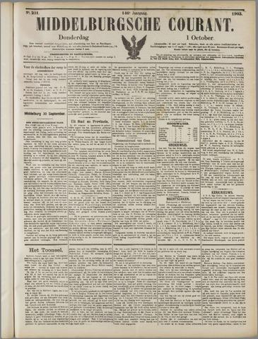 Middelburgsche Courant 1903-10-01