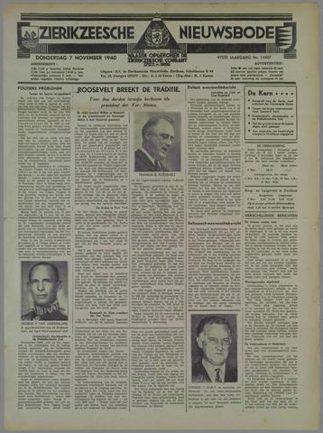 Zierikzeesche Nieuwsbode 1940-11-07