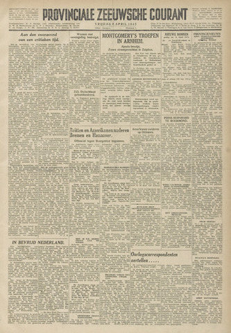 Provinciale Zeeuwse Courant 1945-04-06