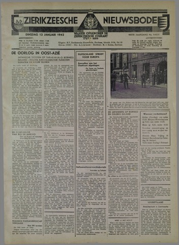 Zierikzeesche Nieuwsbode 1942-01-13