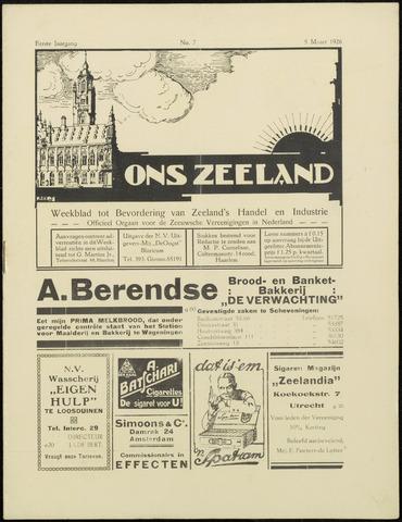 Ons Zeeland / Zeeuwsche editie 1926-03-05