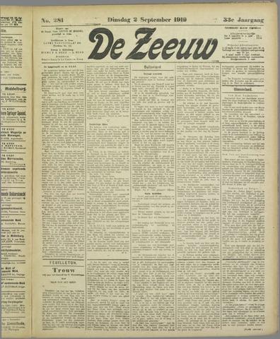De Zeeuw. Christelijk-historisch nieuwsblad voor Zeeland 1919-09-02