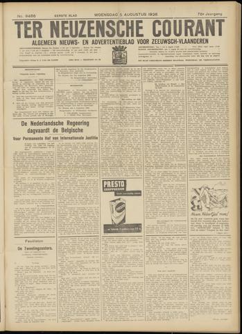 Ter Neuzensche Courant. Algemeen Nieuws- en Advertentieblad voor Zeeuwsch-Vlaanderen / Neuzensche Courant ... (idem) / (Algemeen) nieuws en advertentieblad voor Zeeuwsch-Vlaanderen 1936-08-05