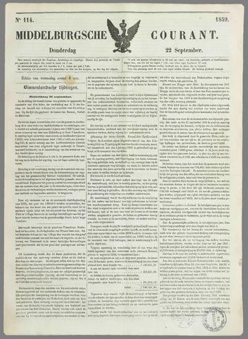 Middelburgsche Courant 1859-09-22