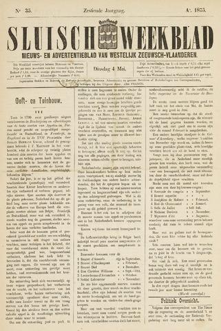 Sluisch Weekblad. Nieuws- en advertentieblad voor Westelijk Zeeuwsch-Vlaanderen 1875-05-04