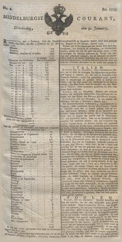 Middelburgsche Courant 1777-01-09