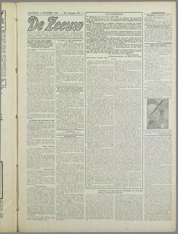 De Zeeuw. Christelijk-historisch nieuwsblad voor Zeeland 1943-10-04