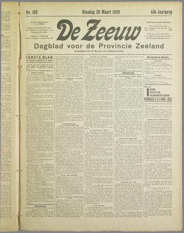 De Zeeuw. Christelijk-historisch nieuwsblad voor Zeeland 1929-03-26