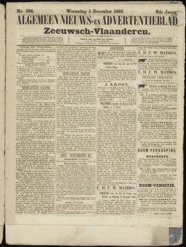 Ter Neuzensche Courant. Algemeen Nieuws- en Advertentieblad voor Zeeuwsch-Vlaanderen / Neuzensche Courant ... (idem) / (Algemeen) nieuws en advertentieblad voor Zeeuwsch-Vlaanderen 1866-12-05