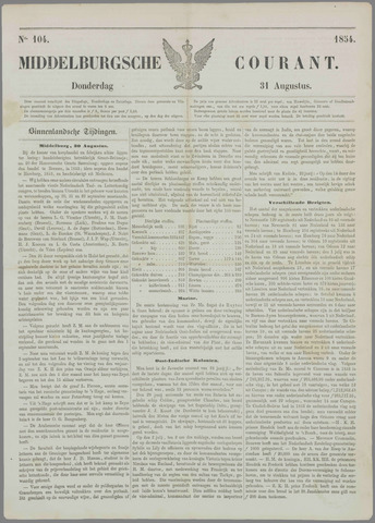 Middelburgsche Courant 1854-08-31