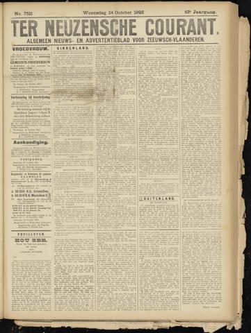 Ter Neuzensche Courant. Algemeen Nieuws- en Advertentieblad voor Zeeuwsch-Vlaanderen / Neuzensche Courant ... (idem) / (Algemeen) nieuws en advertentieblad voor Zeeuwsch-Vlaanderen 1923-10-24