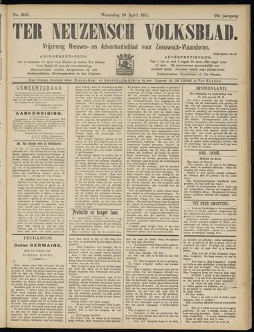 Ter Neuzensch Volksblad. Vrijzinnig nieuws- en advertentieblad voor Zeeuwsch- Vlaanderen / Zeeuwsch Nieuwsblad. Nieuws- en advertentieblad voor Zeeland 1911-04-26