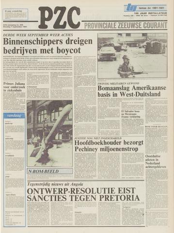 Provinciale Zeeuwse Courant 1981-09-01
