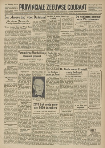Provinciale Zeeuwse Courant 1948-06-21