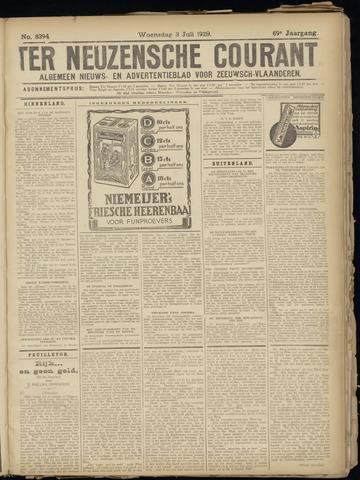 Ter Neuzensche Courant. Algemeen Nieuws- en Advertentieblad voor Zeeuwsch-Vlaanderen / Neuzensche Courant ... (idem) / (Algemeen) nieuws en advertentieblad voor Zeeuwsch-Vlaanderen 1929-07-03