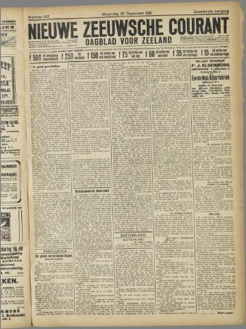 Nieuwe Zeeuwsche Courant 1921-09-28