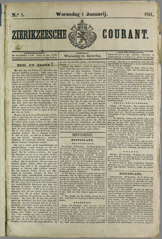Zierikzeesche Courant 1851