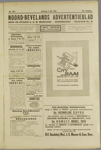 Noord-Bevelands Nieuws- en advertentieblad 1929-05-11