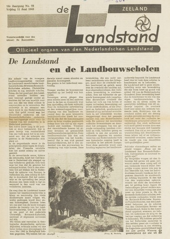 De landstand in Zeeland, geïllustreerd weekblad. 1943-06-11