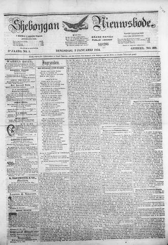 Sheboygan Nieuwsbode 1854