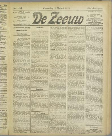 De Zeeuw. Christelijk-historisch nieuwsblad voor Zeeland 1919-03-01