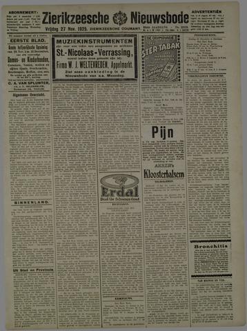 Zierikzeesche Nieuwsbode 1925-11-27