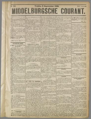 Middelburgsche Courant 1922-09-08