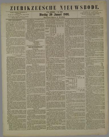 Zierikzeesche Nieuwsbode 1891-01-20