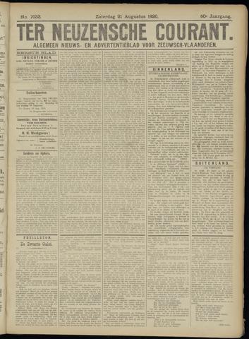 Ter Neuzensche Courant. Algemeen Nieuws- en Advertentieblad voor Zeeuwsch-Vlaanderen / Neuzensche Courant ... (idem) / (Algemeen) nieuws en advertentieblad voor Zeeuwsch-Vlaanderen 1920-08-21