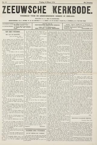 Zeeuwsche kerkbode, weekblad gewijd aan de belangen der gereformeerde kerken/ Zeeuwsch kerkblad 1934-03-16