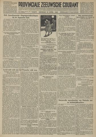 Provinciale Zeeuwse Courant 1942-04-21