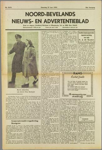 Noord-Bevelands Nieuws- en advertentieblad 1953-06-27