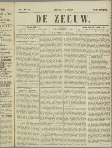 De Zeeuw. Christelijk-historisch nieuwsblad voor Zeeland 1891-02-14