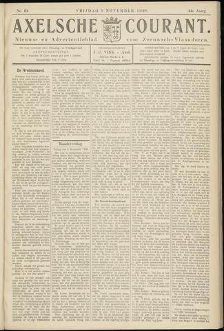 Axelsche Courant 1928-11-09