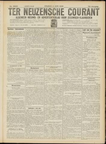 Ter Neuzensche Courant. Algemeen Nieuws- en Advertentieblad voor Zeeuwsch-Vlaanderen / Neuzensche Courant ... (idem) / (Algemeen) nieuws en advertentieblad voor Zeeuwsch-Vlaanderen 1939-06-02
