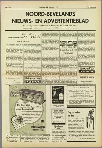 Noord-Bevelands Nieuws- en advertentieblad 1955-10-22