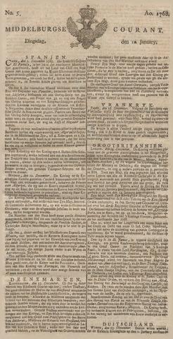 Middelburgsche Courant 1768-01-12