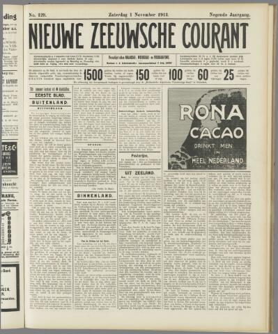 Nieuwe Zeeuwsche Courant 1913-11-01