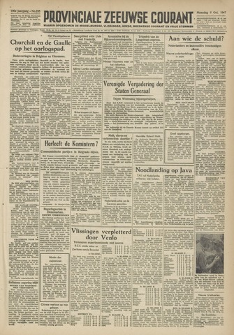 Provinciale Zeeuwse Courant 1947-10-06