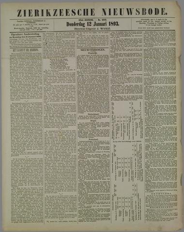 Zierikzeesche Nieuwsbode 1893-01-12