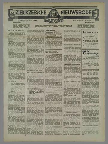 Zierikzeesche Nieuwsbode 1940-07-20