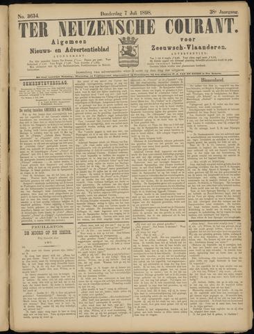 Ter Neuzensche Courant. Algemeen Nieuws- en Advertentieblad voor Zeeuwsch-Vlaanderen / Neuzensche Courant ... (idem) / (Algemeen) nieuws en advertentieblad voor Zeeuwsch-Vlaanderen 1898-07-07