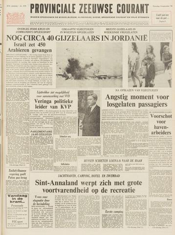 Provinciale Zeeuwse Courant 1970-09-14