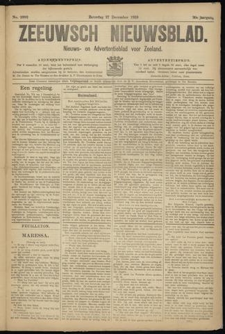 Ter Neuzensch Volksblad. Vrijzinnig nieuws- en advertentieblad voor Zeeuwsch- Vlaanderen / Zeeuwsch Nieuwsblad. Nieuws- en advertentieblad voor Zeeland 1919-12-27