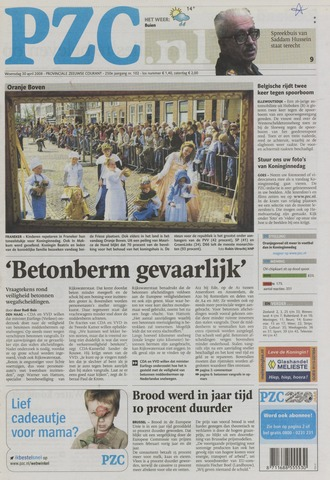 Provinciale Zeeuwse Courant 2008-04-30