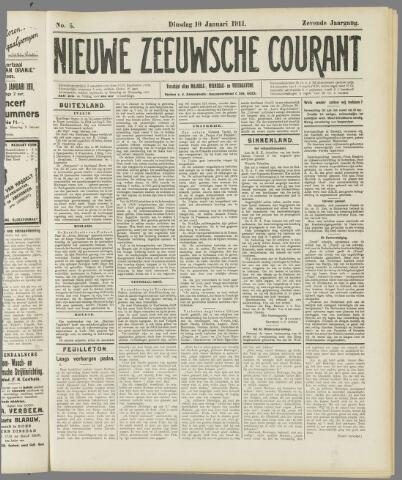 Nieuwe Zeeuwsche Courant 1911-01-10