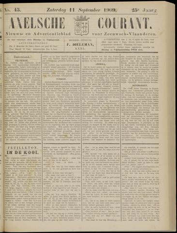 Axelsche Courant 1909-09-11